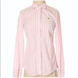 [Vineyard Vines] Pink Gingham Button Shirt -Size 2